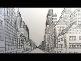 Drawing London Eye Step by Step How to Draw A City Street In One Point Perspective Narrated Youtube