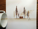 Drawing N Painting Ideas Learn the Basic Coffee Painting Techniques for Beginners Ideas and