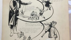 Drawing Ng Cartoon Comic Art for Sale From Rgl Art Bob Powell Unpublished Man In Black