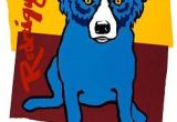 Drawing Of A Blue Dog Carmel Edition I George Rodrigue Blue Dog In 2018 Pinterest