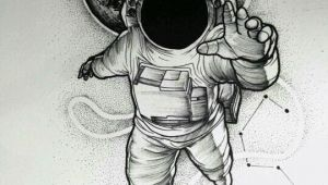Drawing Of A Cartoon astronaut Instagram is Frxncis Spaced Out Tattoos astronaut Tattoo