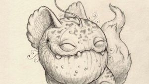 Drawing Of A Cartoon Monster Chris Ryniak S Adorably Cute Monster Drawings Character Creature