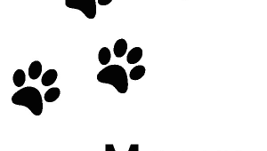 Drawing Of A Cat Paw Print Cat Paw Print Cat Paw Prints Clip Art Vector Clip Art Online