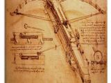 Drawing Of A Catapult Giant Catapult C 1499 by Leonardo Da Vinci Canvas Painting Art