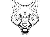 Drawing Of A Dangerous Dog Vector Sketch Wild Dog Business Sign Stock Vektorgrafik Lizenzfrei