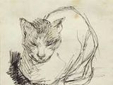 Drawing Of A Dead Cat 1241 Best Cats In Art Drawing Etching Printmaking Woodcut