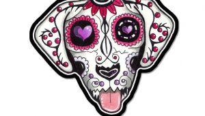 Drawing Of A Dead Dog Large Sugar Skull Dog Car Decal Day Of the Dead Vinyl Sticker Car