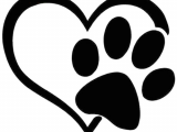Drawing Of A Dog Paw Heart with Paw Print Highjacked Tattoos Dog Lasts Two Weeks