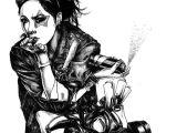 Drawing Of A Geisha Girl Pin by Quentin On Cyberpunk Girl Graffiti Illustration Art