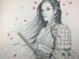 Drawing Of A Geisha Girl Rdt Reddemon Reddemontattoos Geisha Samurai Warrior Princess