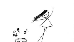 Drawing Of A Girl and Boy Dancing Give Her Music so She Can Dance Ink Drawings Doodles Doodle