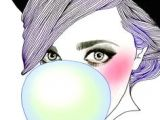 Drawing Of A Girl Blowing Bubble Gum 57 Best Bubble Lisha Images Bubble Gum Chewing Gum Artist