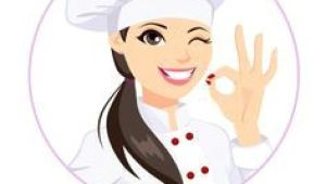 Drawing Of A Girl Chef Free Cartoon Girl Chef Cook Vector Illustration Illustration