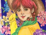 Drawing Of A Girl Colored D M O M O Girls D Prismacolor Momo Girl In 2019 Prismacolor