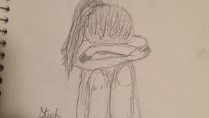Drawing Of A Girl Crying Easy Easy and Beautiful Pencil Drawings Sad Girl Crying Drawing Sketch My