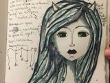 Drawing Of A Girl Doing Painting Devil Girl Art Journal Page Jasmin In Edmonton