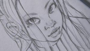 Drawing Of A Girl Drawing Herself Yawmie Draw A Female Version Of Myself Sketch Sketchbook