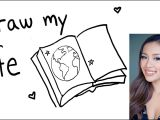 Drawing Of A Girl Holding A Mirror Draw My Life Michelle Phan Youtube