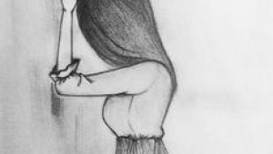 Drawing Of A Girl Holding A Rose Drawing Side Profile Girl Sketch Inspiration Drawings Art Art