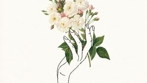 Drawing Of A Girl Holding Flowers Holding Flowers Design Pinterest Drawings Art and Illustration