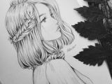 Drawing Of A Girl Looking Back Anime Girl Drawing Side View Faces Drawi