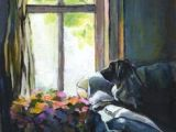 Drawing Of A Girl Looking Out A Window 117 Best Looking Out the Window Images Painted Canvas Artist Art