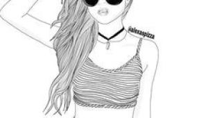 Drawing Of A Girl Nike 65 Best Drawings Black White Images