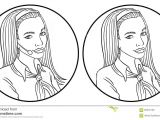 Drawing Of A Girl On Her Phone Vector Telephone Operator Stock Vector Illustration Of Technology