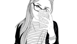 Drawing Of A Girl On the Phone Stle Sketch Phone My Kind Of Sketches Drawings Tumblr Outline