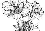 Drawing Of A Girl Planting Floral Tattoo Design Drawing Beautifu Simple Flowers Body Art
