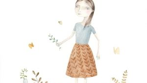 Drawing Of A Girl Planting Plant Cuttings Plant Cuttings Illustrations and Watercolor