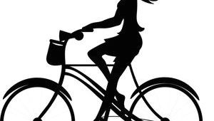 Drawing Of A Girl Riding A Bike Girl Clipart Image Silhouette Of A Pretty Young Girl Riding A