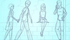 Drawing Of A Girl Standing Backwards 3 Basic Ways to Draw People Step by Step Wikihow