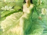 Drawing Of A Girl Watering Plants some Kind Of Water Fae Modest Female Fae Art Cg Art Animation