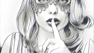 Drawing Of A Girl Wearing A Mask My Portrait as A Drawing Prisma Wearing A Mask Idilya Blog How
