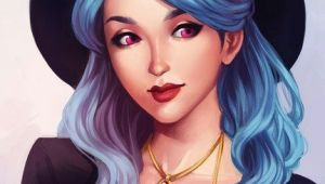 Drawing Of A Girl with Blue Hair Artistic Blue Haired Girl Drawing Drawing Art Girl Blue Hair
