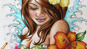 Drawing Of A Hawaiian Girl Hawaiian Hula Girl Tattoo Design by Frosttattoo Deviantart Com On