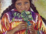 Drawing Of A Mexican Girl 135 Beatriz Hidalgo De La Garza Beatriz Hidalgo Mexican Art