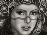 Drawing Of A Mexican Girl Aztec Princess by Big Ceeze Mexican Woman W Headdress Canvas Art