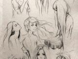 Drawing Of A Model Girl Fantasy Girl Hair I Love This so Much Wanna Draw People with