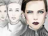 Drawing Of A Model Girl Fashion Fashionable Illustration Fashionillustration
