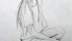 Drawing Of A Modern Girl Drawing Of A Sitting Modern Girl Girl Art Drawing Zeichnen In