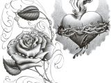 Drawing Of A Rose and Heart Lowrider Drawings Pictures Lowrider Art Image Lowrider Art
