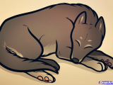 Drawing Of A Sleeping Dog Cartoon Sleeping Dog Image Group 71