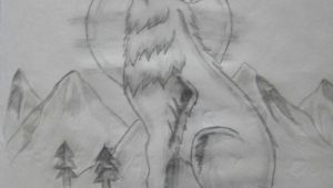 Drawing Of A Wolf Pack Lone Wolf My Drawings Pinterest My Drawings Drawings and Lone