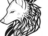 Drawing Of A Wolf Simple Draw Wolf Tattoo Drawing and Coloring for Kids Tattoos Wolf