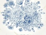 Drawing Of Blue Flowers Pin by asmaa Malallah On Board Drawings Flowers Illustration