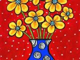Drawing Of Blue Flowers Yellow Flowers Blue Vase Shelagh Duffett Print In 2018 Drawing