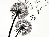 Drawing Of Dandelion Flower Tutorial for Painting Dandelion Wall Graphic Refashion Drawings