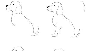 Drawing Of Dog and Puppy Drawing Animals Step by Step Children Coloring Pages Printable